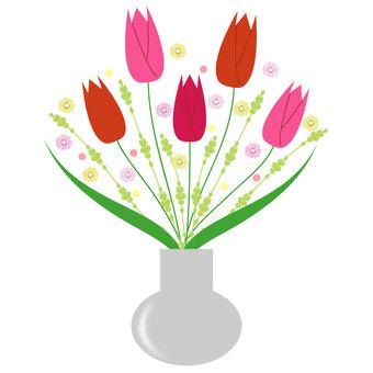 Arrangement of tulips