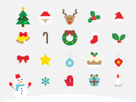 Christmas icon set 01