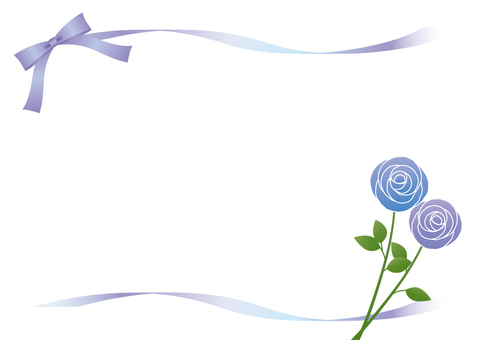 Purple and blue rose frame