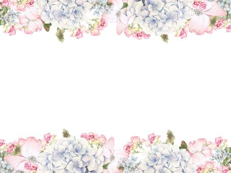 花枠378-アジサイ、ハナミズキの花枠
