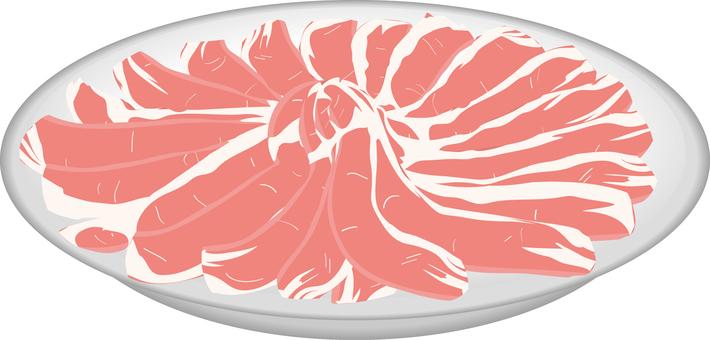 食品系列肉涮豬肉里脊肉