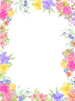 Hana, flower frame