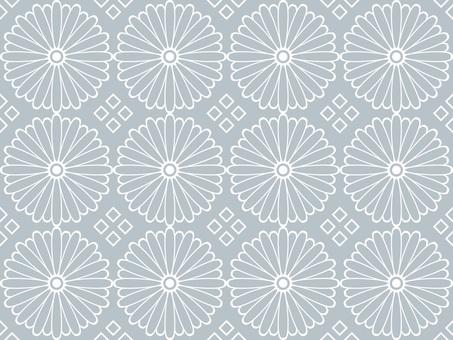 Wallpaper chrysanthemum 01 Loopable gray