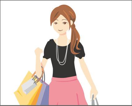 Women up shopping