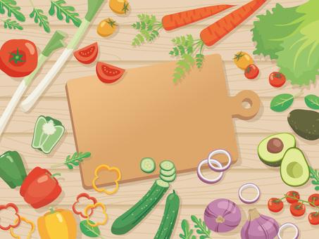 野菜いろいろ_カットする