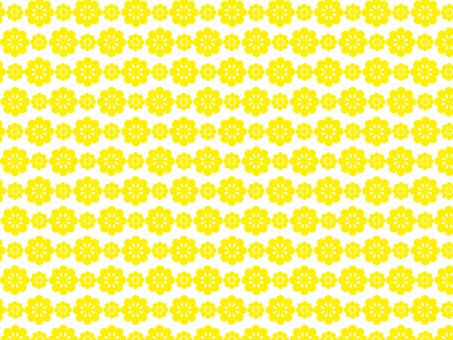花 パターン 黄色