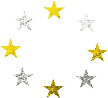 Gold and silver star mark