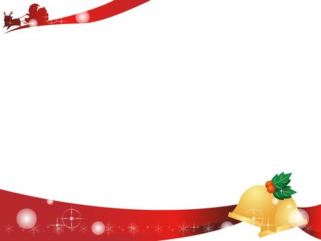 Christmas bell decoration frame 4