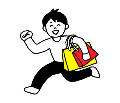 쇼핑하는 남성 (간단)