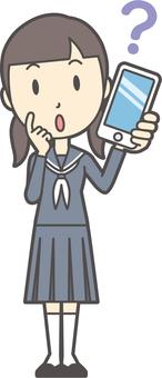 Junior high school sailor woman -059-whole body