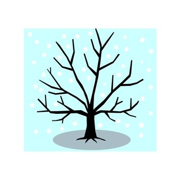Winter tree icon 1