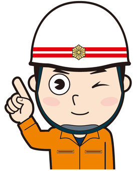 Pointing rescue worker (wink)