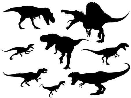 Carnivorous dinosaur _ silhouette