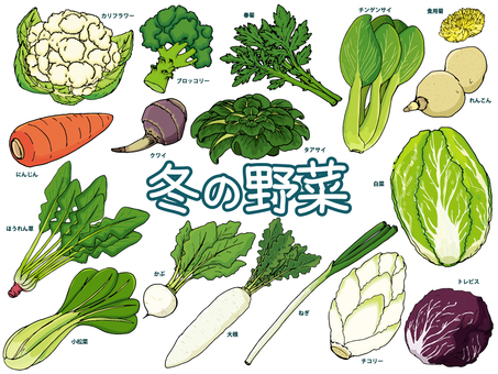 Winter vegetables / warm