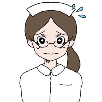 Glasses nurse woman (sweat)