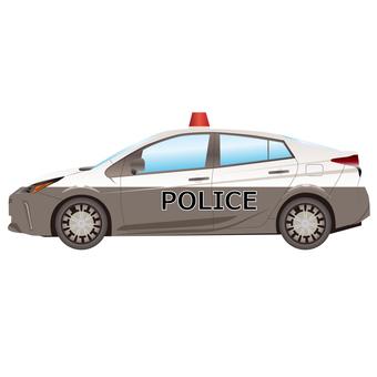 경찰차의 일러스트
