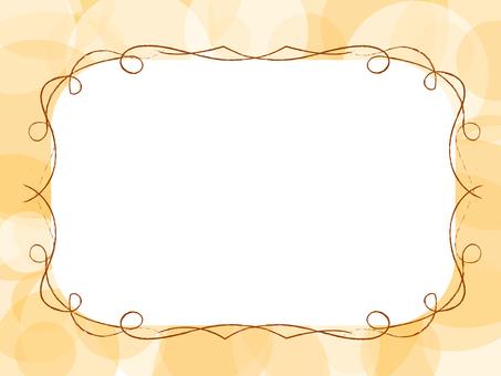 简单的框架(橙色)