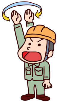 Illustration of workers doing hand signals