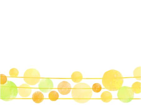물방울과 노란색 라인 카드