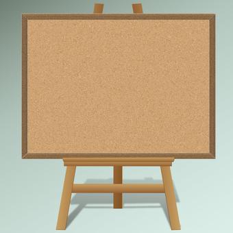 Easelboard cork