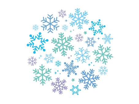 Snowflake circle blue