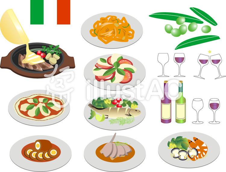 イタリア料理イラスト No 1086046無料イラストならイラストac