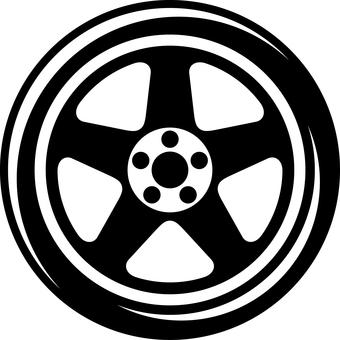 Car tire wheel Silhouette