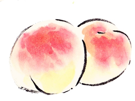 """Handwritten material"" peach"