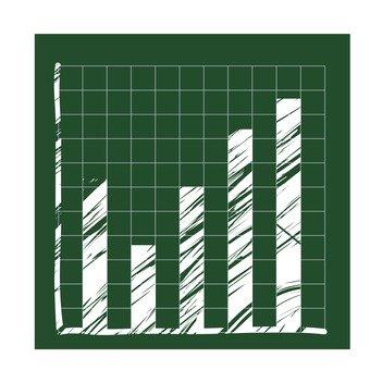 Blackboard vertical bar chart 1