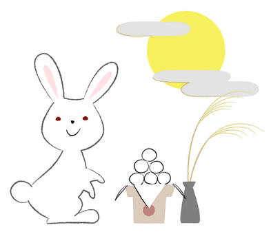 Rabbit moon viewing