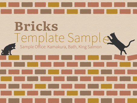 Business template western style brick pattern 2