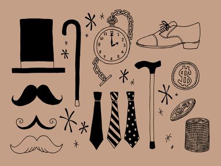Gentleman item (brown)