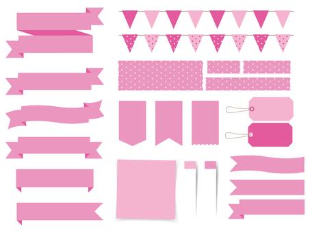 Ribbon Summary Pink