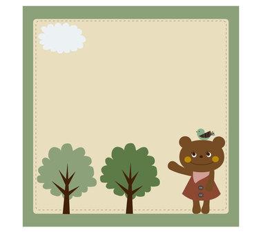Kuma-chan在森林裡
