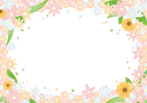 Flower filled frame
