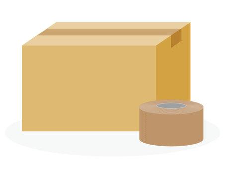 Cardboard + gum tape [tea]