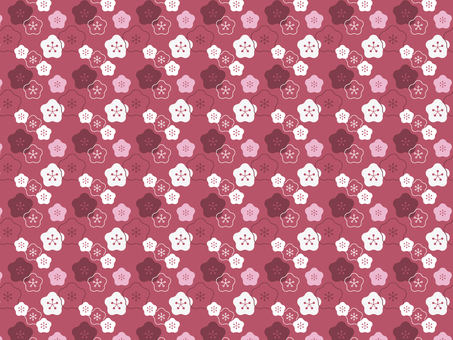 Japanese pattern background pattern Ume ②