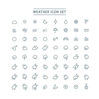 WATHER ICON SET