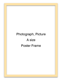 Poster frame longitudinal (natural type)