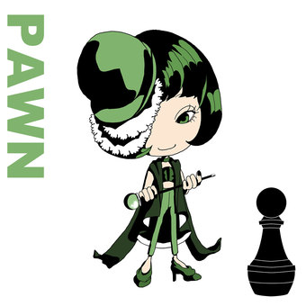 Chess character PAWN [Black]