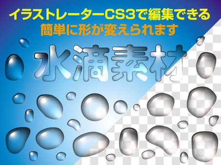Water drop material