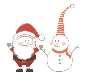 Santa and the Snowman