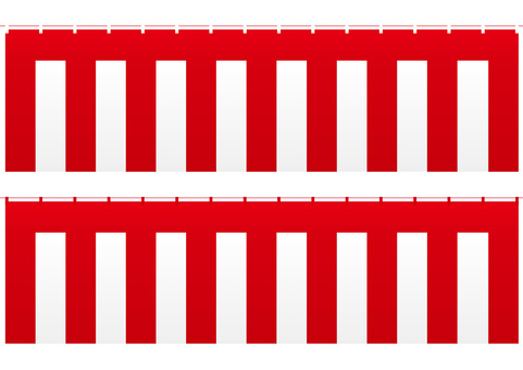 Red and white screen