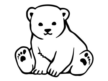 백곰 흑백