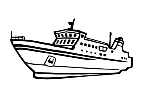 Hand-painted _ ferry