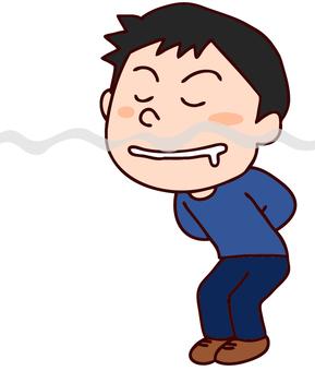 由美味的氣味繪製的男性插圖
