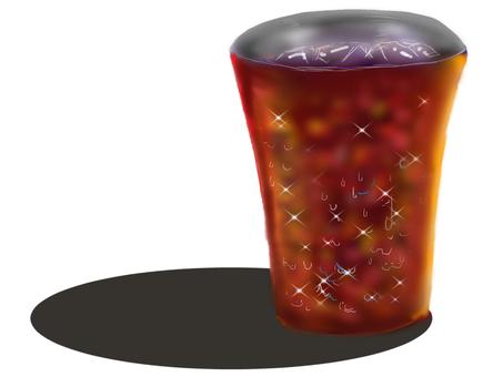 Copper tumbler ice coffee