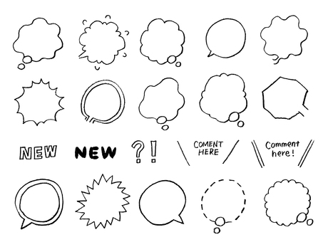 Analog handwritten balloon summary