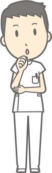 Male nurse - Fumifuku - whole body