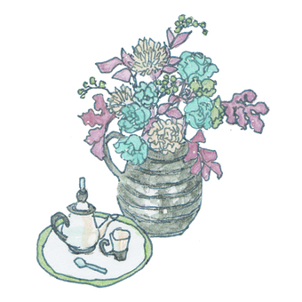 개성적인 생화 꽃